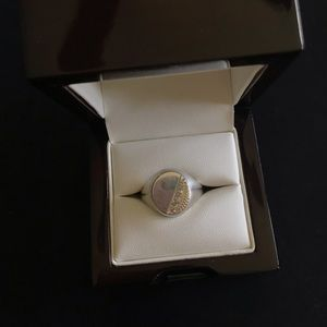 Men's Silver Oval Signet Ring